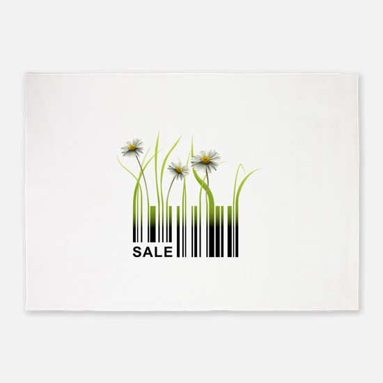 Barcode plant design 5'x7'Area Rug
