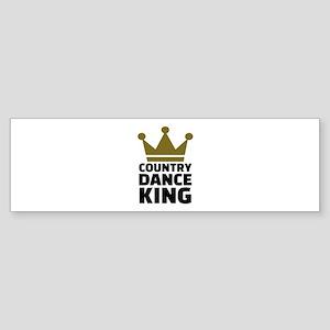 Country dance king Sticker (Bumper)