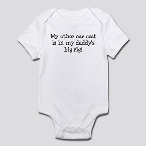 Carseat is in Daddy's Big Rig Infant Bodysuit