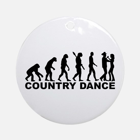 Evolution country dance Round Ornament