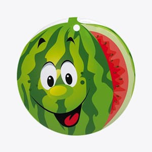 Cartoon watermelon fruit smiling Round Ornament