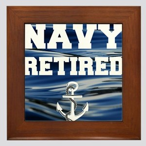 Navy Retired Framed Tile