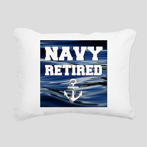 Navy Retired Rectangular Canvas Pillow