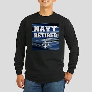 Navy Retired Long Sleeve T-Shirt