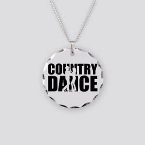 Country dance Necklace Circle Charm