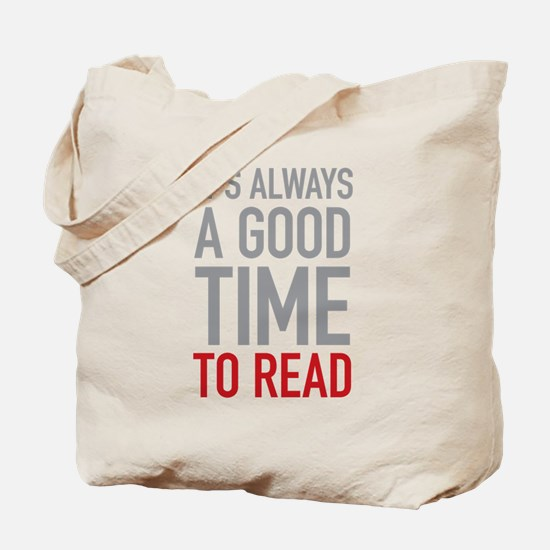 Good Time To Read Tote Bag