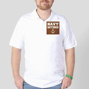Navy Retired Golf Shirt