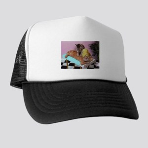 Funny Cat Massage Trucker Hat