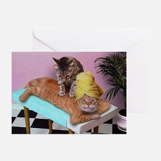 Funny Cat Massage Greeting Cards