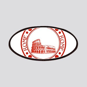 Rome travel stamp Patch