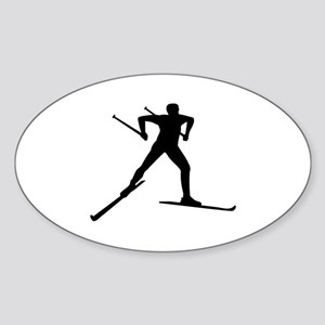 Cross country skiing Sticker (Oval)