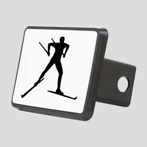 Cross country skiing Rectangular Hitch Cover