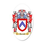 Turrell Oval Car Magnet