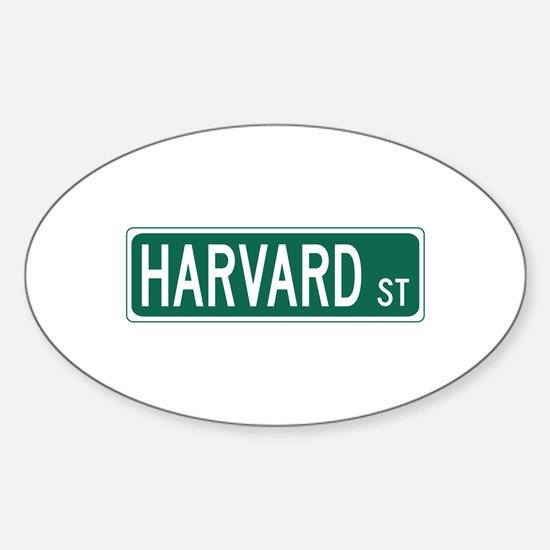Harvard St, Cambridge, MA Sticker (Oval)