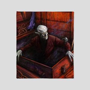 Dracula Nosferatu Vampire Throw Blanket