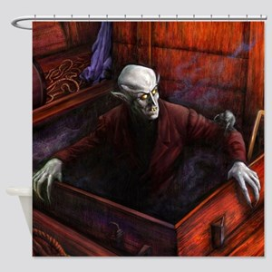 Dracula Nosferatu Vampire Shower Curtain