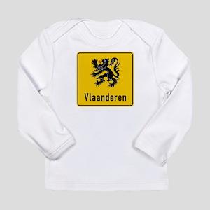 Flanders Road Sign, Bel Long Sleeve Infant T-Shirt