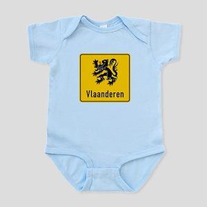 Flanders Road Sign, Belgium Infant Bodysuit