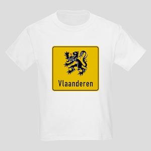 Flanders Road Sign, Belgium Kids Light T-Shirt
