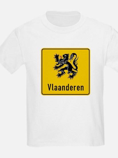 Flanders Road Sign, Belgium T-Shirt