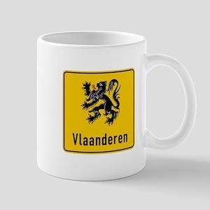 Flanders Road Sign, Belgium Mug