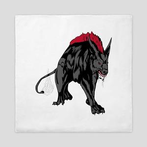 Scary werewolf art Queen Duvet