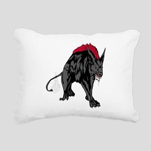 Scary werewolf art Rectangular Canvas Pillow