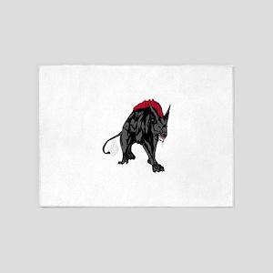 Scary werewolf art 5'x7'Area Rug