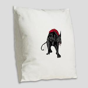 Scary werewolf art Burlap Throw Pillow