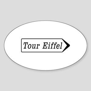 Tour Eiffel, Paris, France Sticker (Oval)