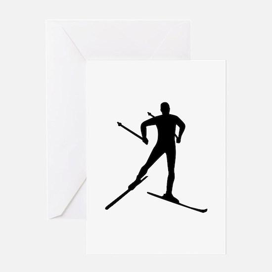 Cross-country skiing Greeting Card