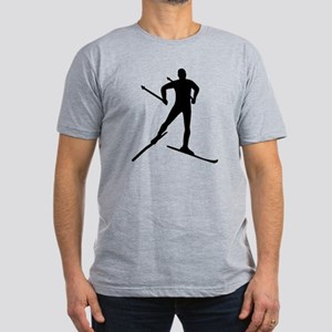 Cross-country skiing Men's Fitted T-Shirt (dark)