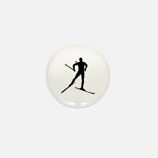 Cross-country skiing Mini Button