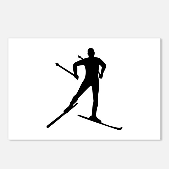 Cross-country skiing Postcards (Package of 8)