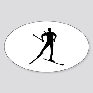 Cross-country skiing Sticker (Oval)