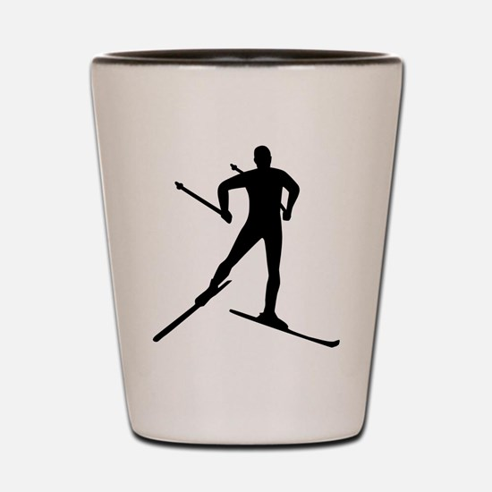 Cross-country skiing Shot Glass