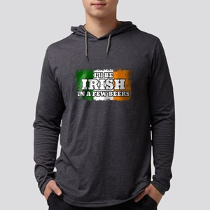 Irish In A Few Beers Mens Hooded Shirt