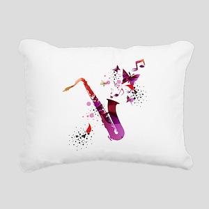 Stylish colorful music s Rectangular Canvas Pillow
