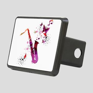 Stylish colorful music sax Rectangular Hitch Cover
