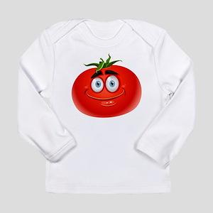 Smiley tomato Vegetable cartoo Long Sleeve T-Shirt
