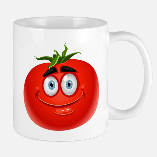 Smiley tomato Vegetable cartoon Mugs