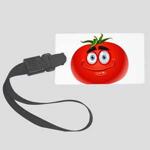 Smiley tomato Vegetable cartoon Large Luggage Tag