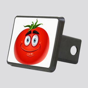 Smiley tomato Vegetable ca Rectangular Hitch Cover