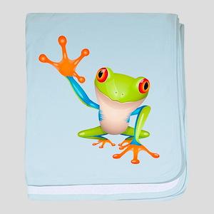 Cute colorful frog design baby blanket