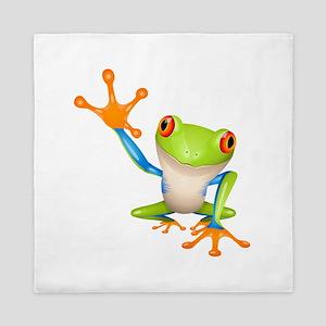 Cute colorful frog design Queen Duvet