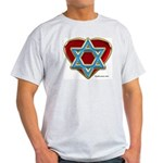 Heart For Israel Ash Grey T-Shirt
