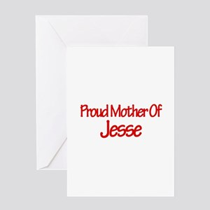 Proud Mother of Jesse Greeting Card