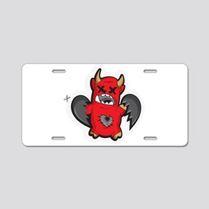 Devil Monster with wings Aluminum License Plate