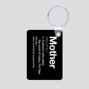 Mother Definition Aluminum Photo Keychain