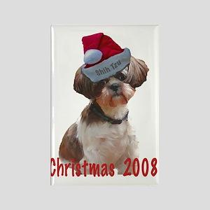 Shih Tzu Betsy Christmas Dog Rectangle Magnet